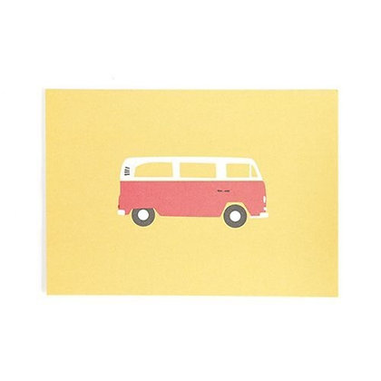 "Postkarte ""Bulli"" von Roadtyping"