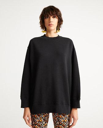 Oversized Sweater Jane in schwarz von Thinking Mu