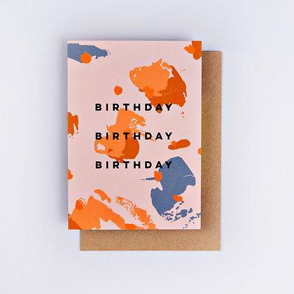 Klappkarte Spot Palette Birthday The Completist