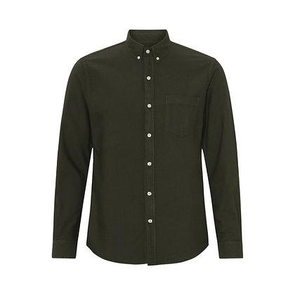 Organic Button Down Shirt in Hunter Green von Colorful Standard