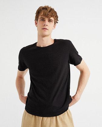 Shirt aus Hanf in schwarz von Thinking Mu