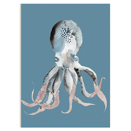 Postkarte Tintenfisch von Nuukk