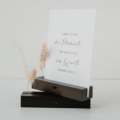 Karten- & Blumenständer 2er Set Herz schwarz von Eulenschnitt