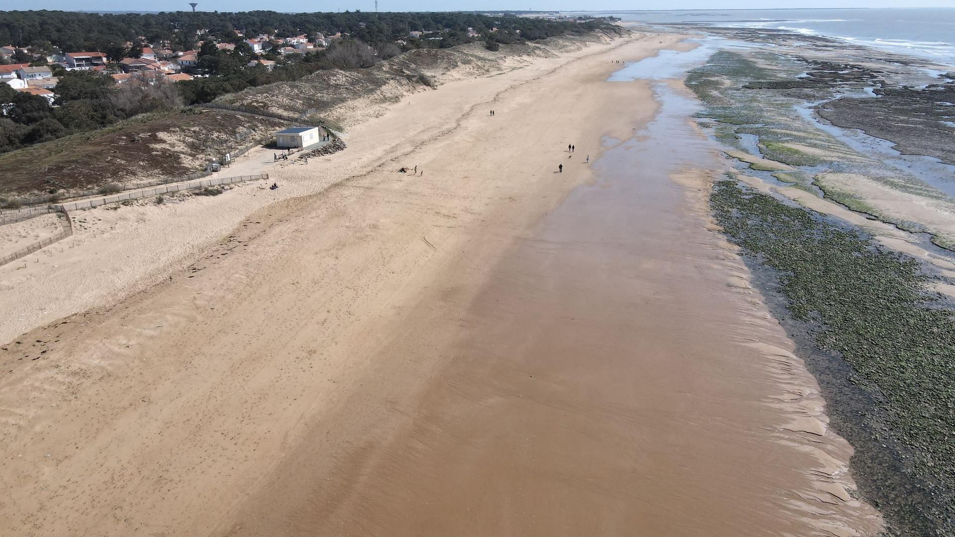 Vue de la plage marée basse