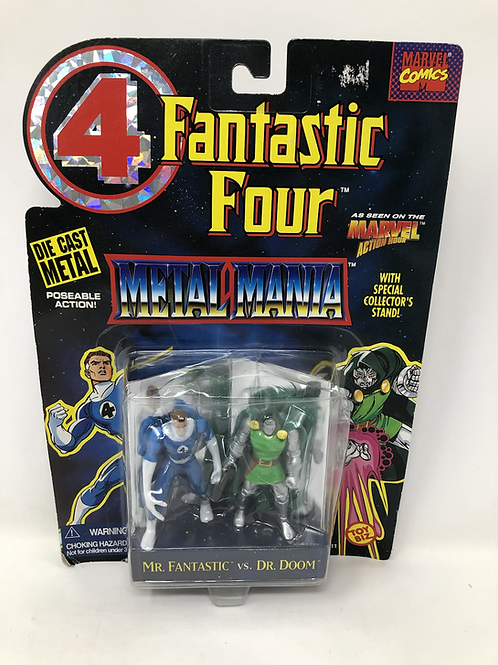 Fantastic Four Metal Mania Mr Fantastic Dr Doom Toybiz