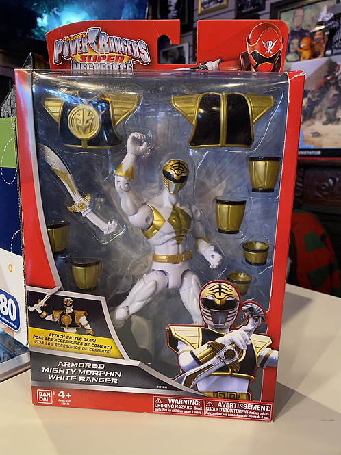 Power Rangers Armored White Ranger Bandai