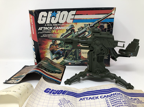 GIJOE Attack Cannon (Flak) with box and instructions