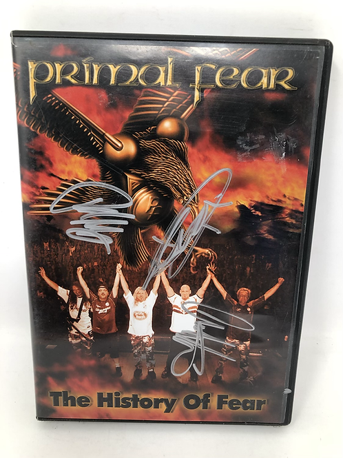 Primal Fear History of Fear Signed DVD Set