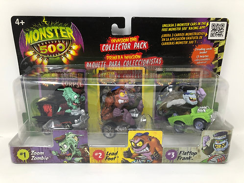 Monster 500 Zoom Zombie, Lead Foot, Flattop Frank Monster Cars