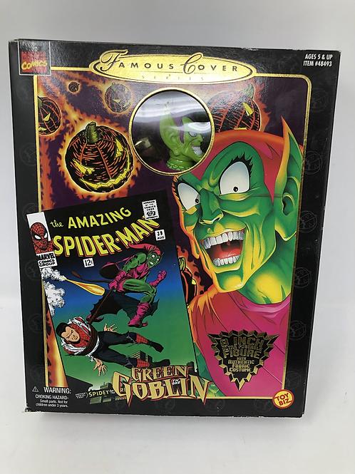 """Famous Covers Marvel Green Goblin 8"""" Toybiz"""