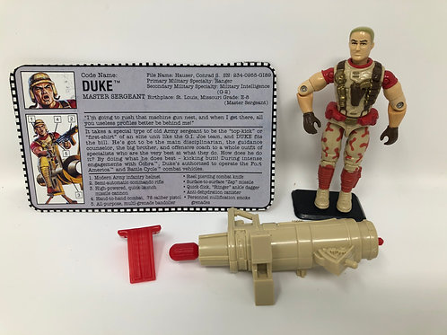 GIJOE Hasbro 1992 Duke Master Sergeant with some weapons