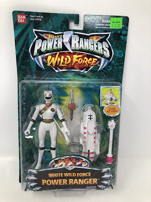 Power Rangers Wild Force White Ranger Bandai