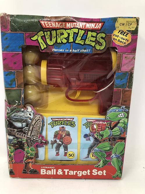 Tmnt Teenage Mutant Ninja Turtles Leonardo Ball & Target Set Vintage