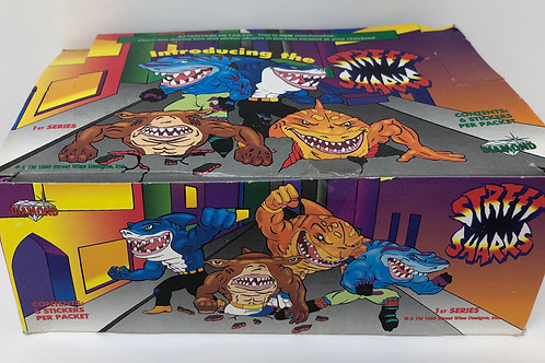 Street Sharks case of sticker packets 1995 Diamond Select