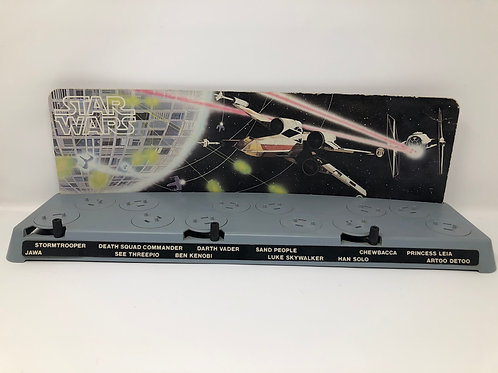 Star Wars 1977 First 12 Display Stand with Cardboard Backdrop