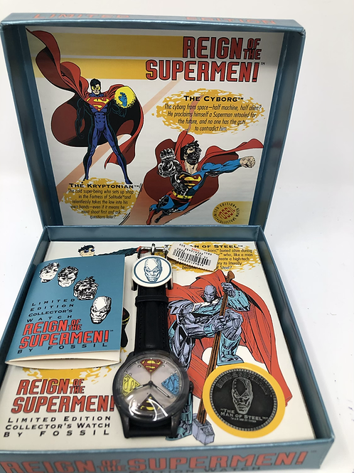 DC Reign of the Superman Fossil Collector's Watch
