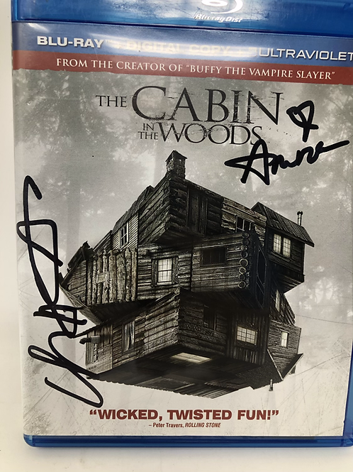 Cabin in the Woods Signed Chris Hemsworth Blu Ray