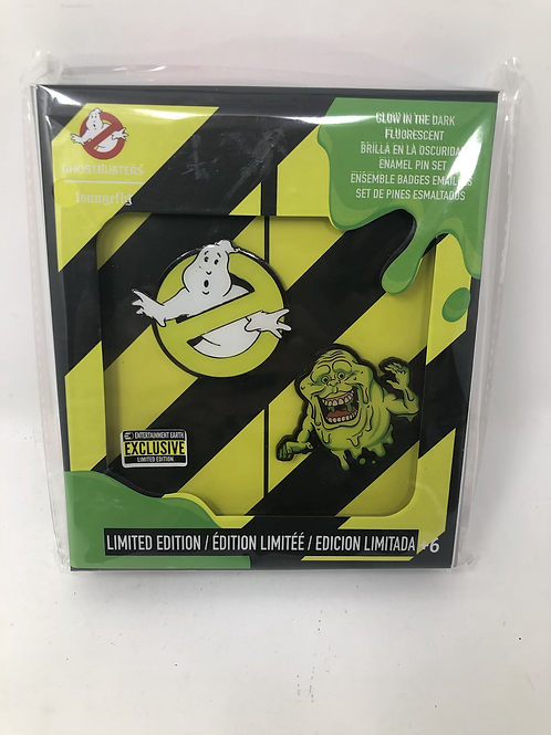 Ghostbusters EE Exclusive Glow in the Dark Pin Set Loungefly