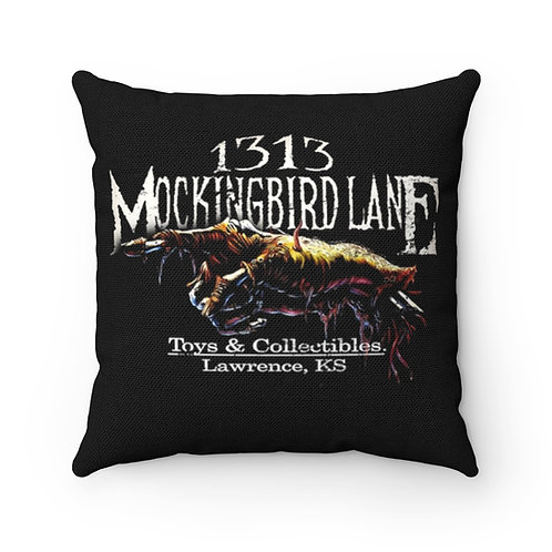 1313 Mockingbird Lane Creep Hand Accent Throw Pillow Home Office