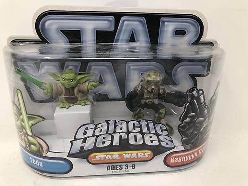 Star Wars Galactic Heroes Yoda & Kashyyyk Trooper Hasbro