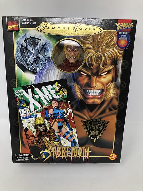 "Famous Covers Marvel Sabretooth 8"" Toybiz"