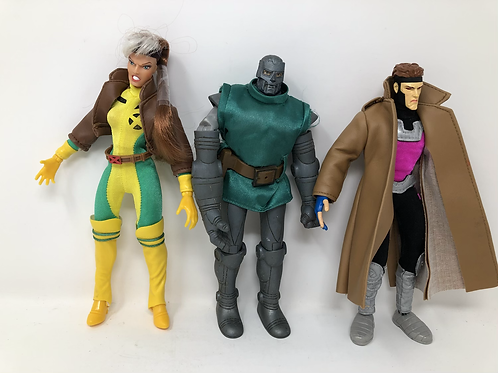 "Marvel Rogue, Dr Doom, Gambit 10"" Toybiz lot"