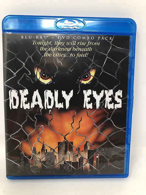 Deadly Eyes Blu Ray and DVD Combo