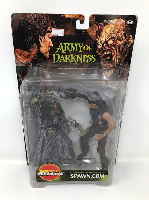 Army of Darkness Ash & Pit Witch 2 pack Move Maniacs 2001 Mcfarlane