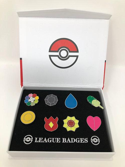Pokemon 8pcs Enamel Pin League Set