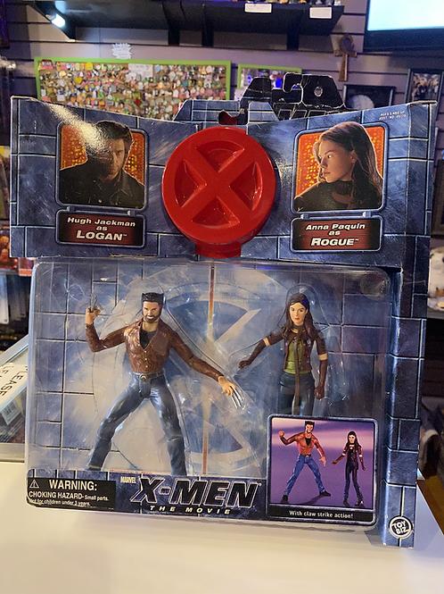 Marvel X-Men Movie Logan Vs Rogue Toybiz