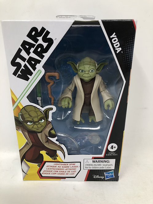 "Star Wars 4"" Yoda Galaxy of Adventures Hasbro"