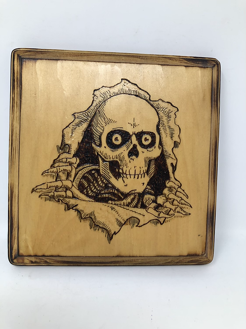 Powell & Peralta Wood Burned Etched Plaque