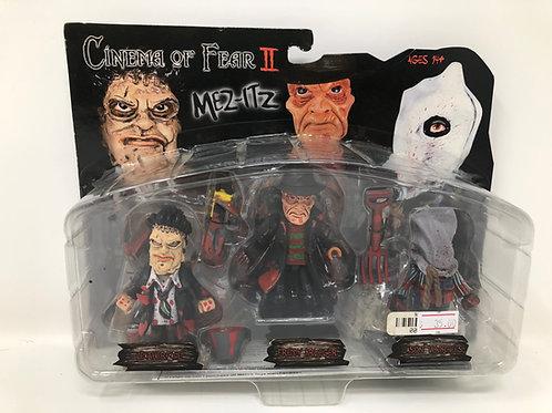 Mez-Itz Cinema of Fear II Leatherface, Freddy Krueger, Jason Voorhees 2005 Mezco