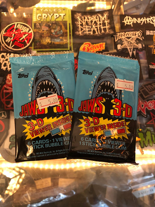 JAWS 3-D Topps cards