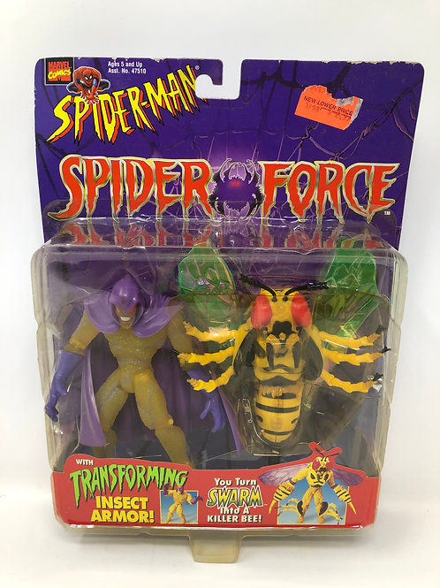 Spider-Man Spider Force Swarm with transforming insect armor 1997 Toybiz