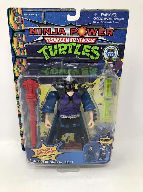 Teenage Mutant Ninja Turtles TMNT 1996 Ninja Power Mutatin' Shredder Playmates
