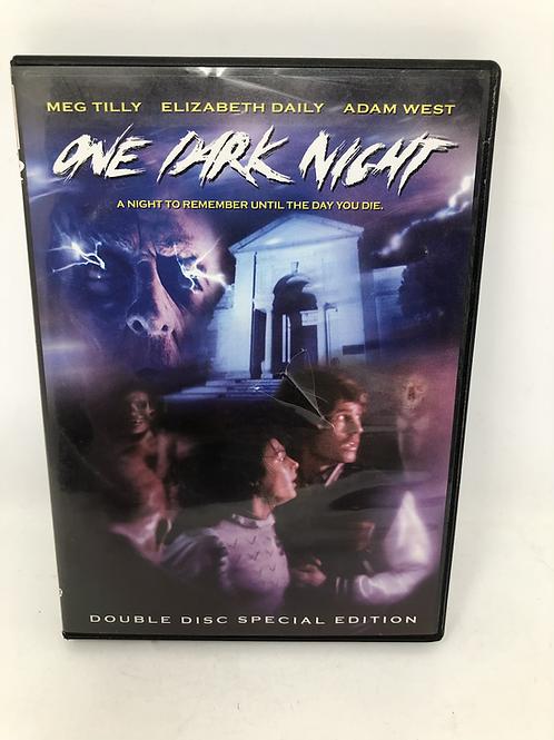 One Dark Night DVD with Film Cell Meg Tilly Adam West