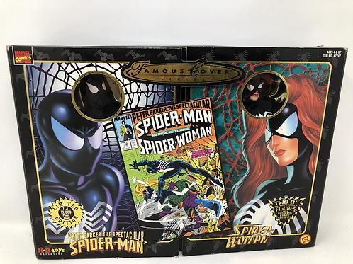 """Famous Covers Marvel Spiderman & Spiderwomen 8"""" Toybiz"""