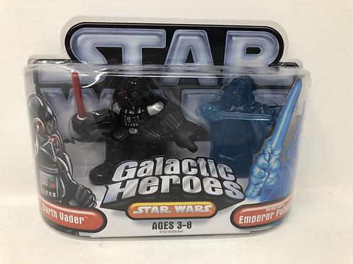 Star Wars Galactic Heroes Darth Vader & Emperor Palpatine Hasbro