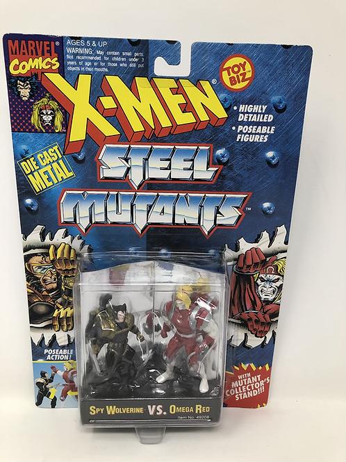 X-Men Steel Mutants Spy Wolverine Omega Red Toybiz