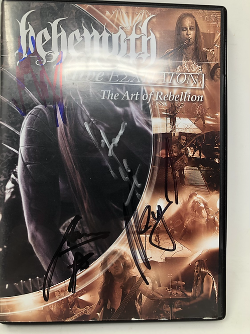Behemoth Live Art of Rebellion DVD Signed by the Band
