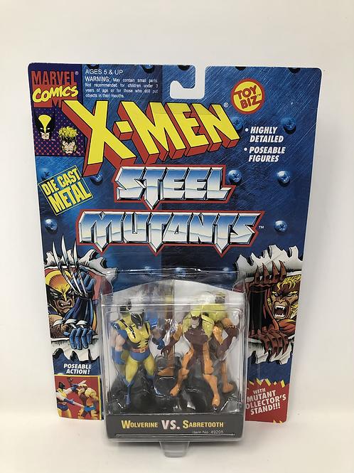 X-Men Steel Mutants Wolverine Sabretooth Toybiz
