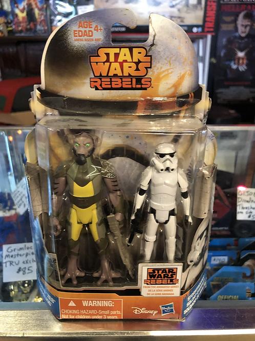 Star Wars Rebels Zeb and Stormtrooper 2 Pack Hasbro Disney