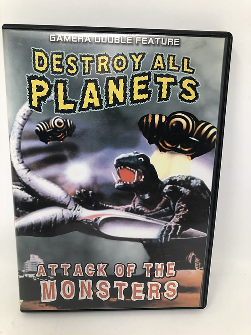 Gamera Destroy All Planets & Attack of the Monsters DVD