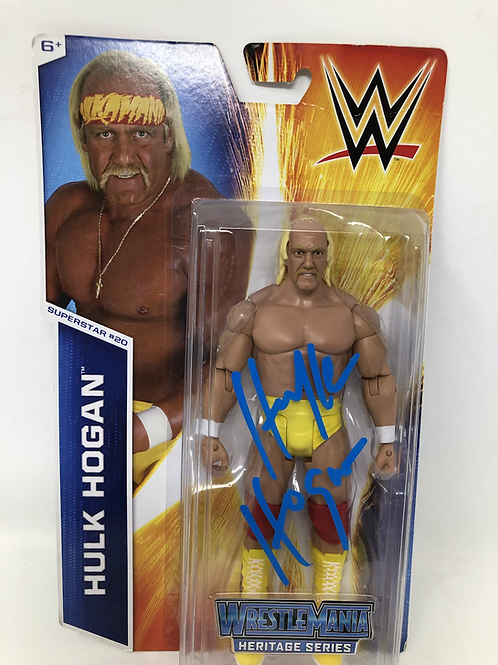 Hulk Hogan Autographed Wrestlemania Heritags Series Mattel