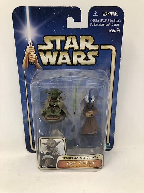 Star Wars Yoda and Chian Attack of the Clones Hasbro