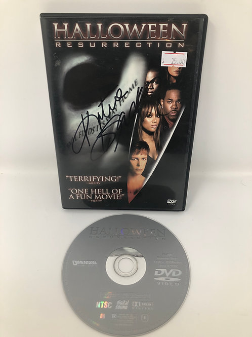 Halloween Resurrection DVD signed by Katee Sackhoff