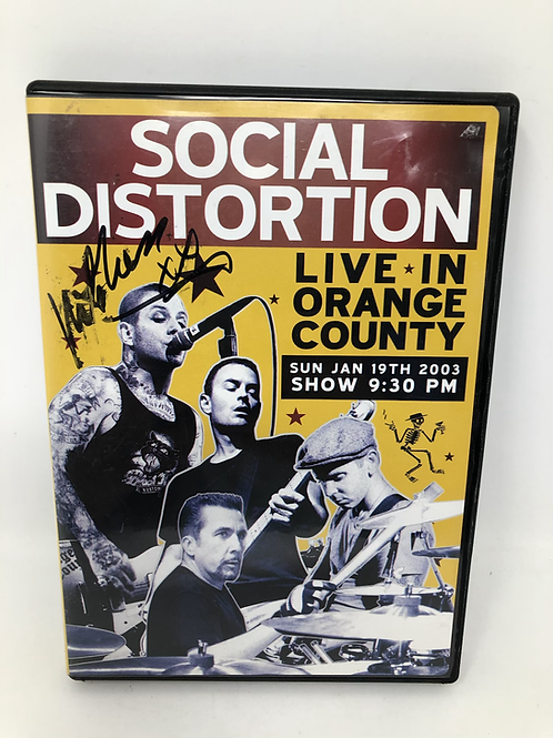 Social Distortion Live in Orange County Signed Mike Ness DVD