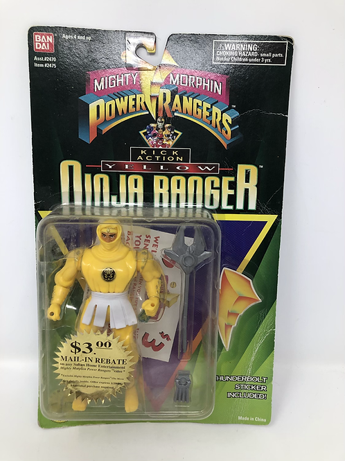 Mighty Morphin Power Rangers Bandai Yellow Ninja Ranger