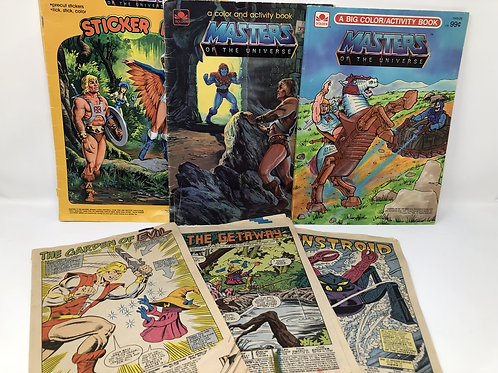 Masters of the Universe Used Coloring and Comic Lot